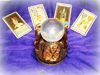 crystal ball and tarot