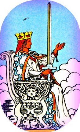 The Queen of Swords is a counselor and minister who tells it like it is.